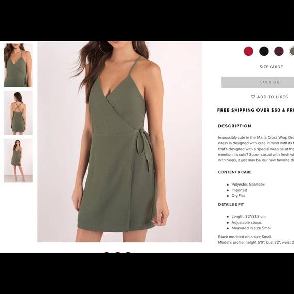 3f0eb2d2806 Tobi wrap dress